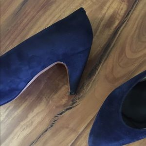 Evan Picone Shoes - Evan-Picone Blue Suede Pumps